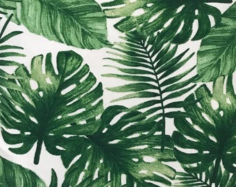 """Green Bahama Palm Leaves Precut Quilt Fabric Squares. 5"""" - 6.5"""" squares. Fabric for quilting Australia"""