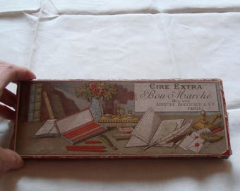 A French vintage sealing wax set in original box