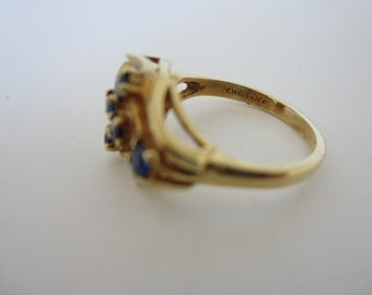 Sapphire Ring, 14k Yellow Gold Sapphire Ring, September Birthstone