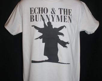 echo and the bunnymen t-shirt indie 80s  retro vtg vintage