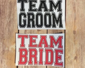 Wedding Party Iron on Transfer - Team Bride or Team Groom