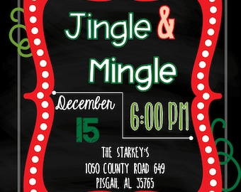 JIngle and Mingle Christmas Invitation, DIGITALFILE
