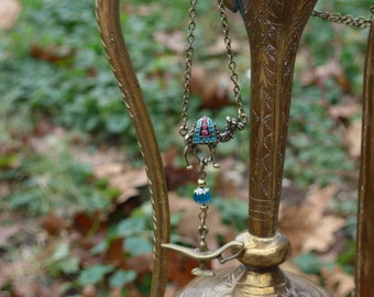 Aladdin necklace camel genie bottle necklace