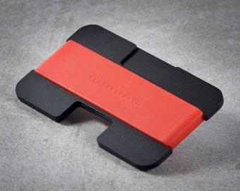 Minimo wallet | black + red | minimalist, slim wallet, card wallet, travel wallet