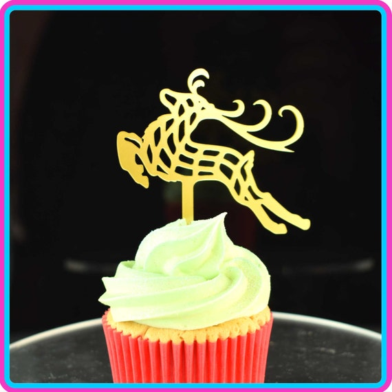 Reindeer Acrylic Cake Topper