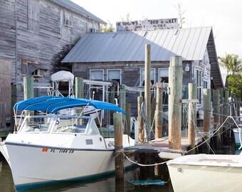 Boat Dock Florida Photography Print, Boca Grande