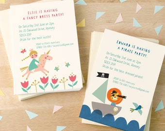 Personalised Children's Birthday Party Invitations