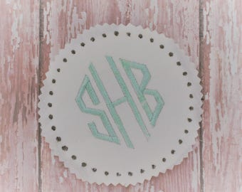 Machine Embroidery Fonts - Embroidery Monogram Font - Natural Circle Font Design - Satin Stitch Font - Two Machine Embroidery Design