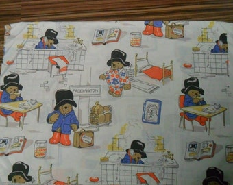 Rare Paddington Bear Cotton fabric