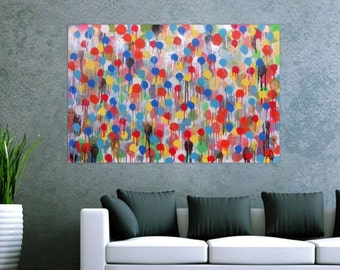 Original abstract artwork on canvas ready to hang 80x120cm #475