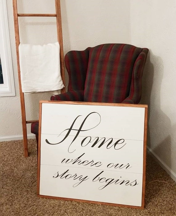 Where Our Story begins Wood Sign {Customizable}