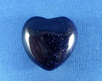 Blue Goldstone Heart (.6 oz.)