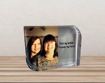 Glass Photo block, Glass frame, Photo frame, Personalised gift, Wedding gift, Anniversary gift,  Birthday gift, Christmas gift,