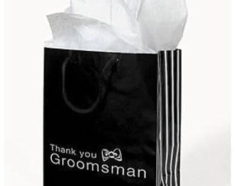 1/ Groomsmen Gift Bags/ Favor bags/ Thank you bags/ Wedding Bags