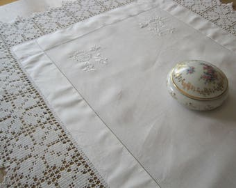 Antique Victorian Lace Tablecloth, Crochet Lace, Vintage Lace Tablecloth, Hand-made Lace, Gift, Housewarming, Downton Abbey