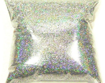 "9oz / 266ml Silver Jewels Holographic Solvent Resistant Rainbow Polyester Glitter .015"" Poly Glitter - Nail Art - Crafts and Hobbies LF069"