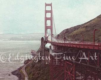 Golden Gate Bridge Photo, San Francisco Photography, travel photography, bridge photo, architectural photo, San Fran, red, San Francisco art