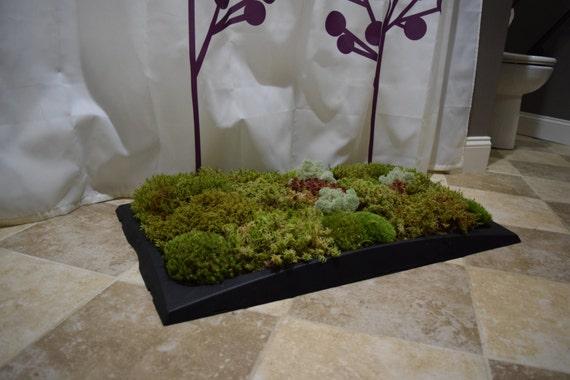 Moss bath mat kit sphagnum moss black tray great gift for Make a moss bath mat