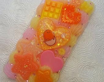Kawaii Lazy Egg  peach yellow pink iPhone 7 PLUS phone case rainbow pastel