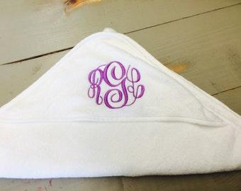 Monogrammed Hooded Baby Towels