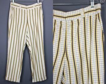 80's Men's Pants....80's Brooks Brothers Plaid Men's Golf Pants