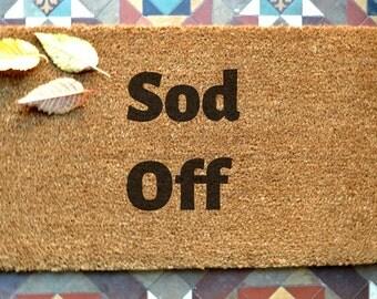 door mat  engraved coir door mat Sod Of Size: 400 x 600 mm   UK Based
