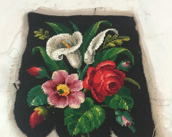 Antique Beaded/Needlepoint Tapestry From England