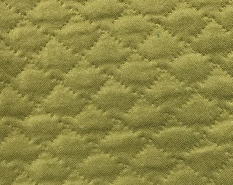 Green Quilted Upholstery Fabric By The Yard