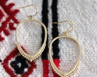 Gorgeous Matte Gold or SilverTeardrop Inspired Hoop Earrings
