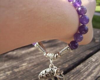 Natural stone amethyst bracelet!!!