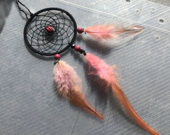 Mirror black and pink dream catcher