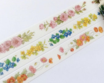 Whole Roll - Konohana Flowers Washi Tape set