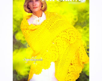 Vintage Shawl crochet pattern in PDF instant download version
