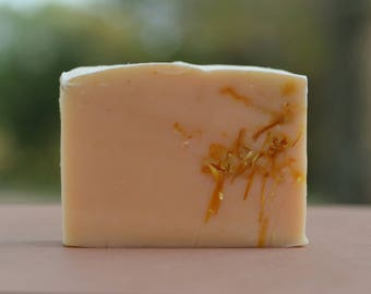 Turmeric + Calendula Cold Process Soap - Handmade Soap, Natural Soap, Vegan Soap, Herbal Soap