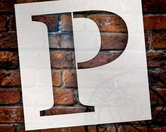 P -Monogram Letter Stencil - Select Size - STCL1729 - by StudioR12