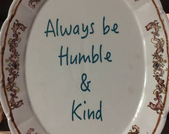 Vintage platter with quote