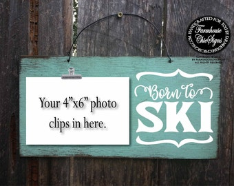 born to ski, water ski, snow ski, skiing, skiing decor, skiing, skiing gift, gift for skier, skier gifts, skier, water skier, snow skier