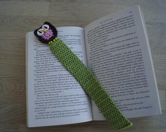 Owl crochet bookmark
