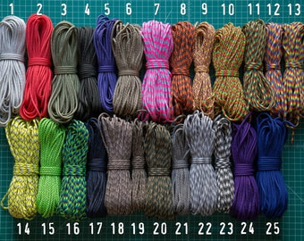 Big SALE 550 paracord type III commercial 7 strand nylon made in USA - 10 feet