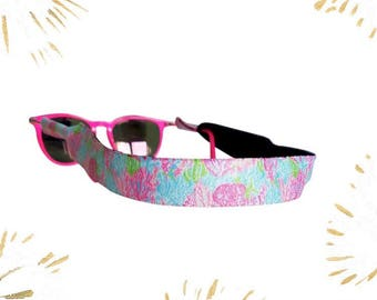 Lilly Pulitzer Inspired Sunglass Strap Croakie