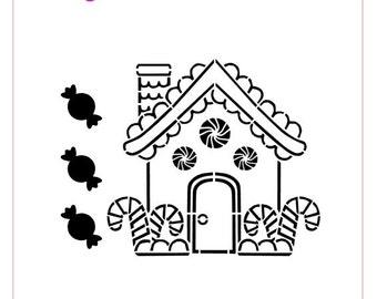PYO Gingerbread House Stencil
