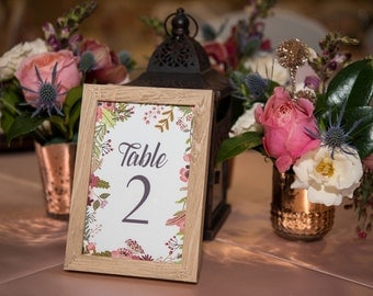 Table Numbers, Printable Table Numbers, Instant Download Table Numbers, Rustic Table Numbers