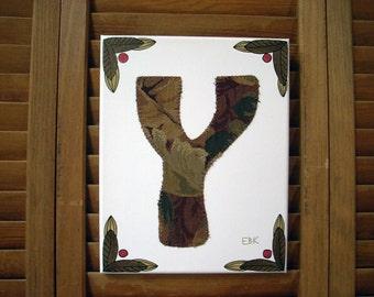 Initial Y #1 Fabric Wall Art