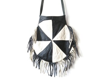 Bag fringed leather vintage
