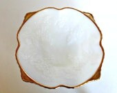 Gold Rim Fruit Bowl, Milk Glass Square Bowl Gold Rim, Anchor Hocking Milk Glass Bowl, Grapes Leaves White Bowl, White Gold Rim Bowl, Bowl