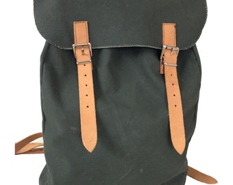 Canvas Backpack Vegan Canvas Backpack Canvas Rucksack Vegetarian Backpack