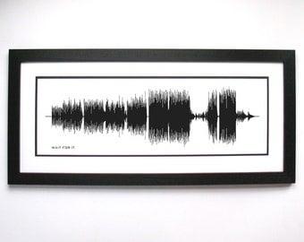 Wait For It  - Original Broadway Cast : Sound Wave Art Print - Broadway Musical Song Art.