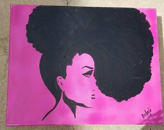 Black on Pink updo