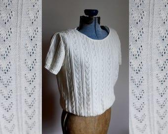 Small / Medium - Sweet Cream Sweater
