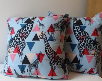 Giraffe Print Cushion